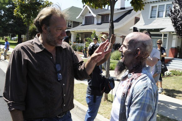 Greg Nicotero on the set of The Walking Dead