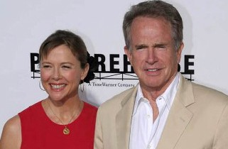 Annette Bening and Warren Beatty at The Women Premiere