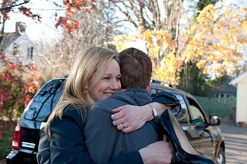 Laura Linney and Gabriel Basso in The Big C