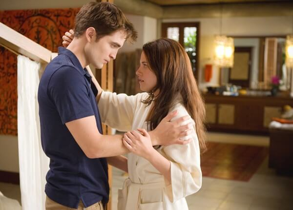 Robert Pattinson and Kristen Stewart in 'Breaking Dawn'