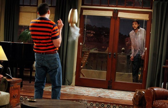 Jon Cryer and Ashton Kutcher in Two and a Half Men