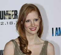 Jessica Chastain at the premiere of I Am Number Four