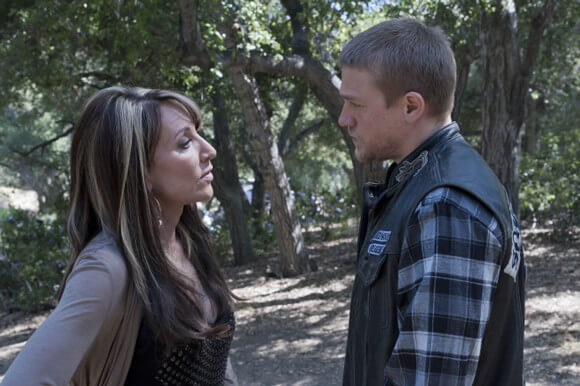 Katey Sagal and Charlie Hunnam on 'Sons of Anarchy'