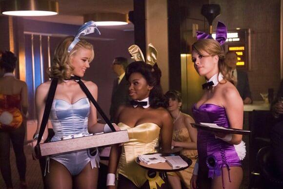 Amber Heard as Maureen, Naturi Naughton as Brenda, Leah Renee as Alice in The Playboy Club