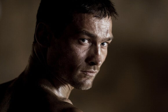 Andy Whitfield stars in Spartacus: Blood and Sand