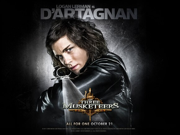 Logan Lerman as D'Artagnan in 'The Three Musketeers'