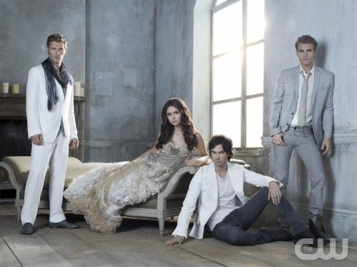 Joseph Morgan, Nina Dobrev, Ian Somerhalder, and Paul Wesley in The Vampire Diaries