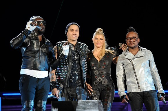 "The Black Eyed Peas onstage at the ""Concert 4 NYC"""