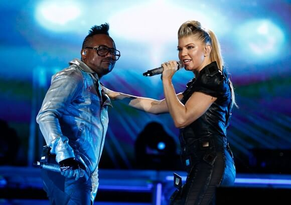 Black Eyed Peas performing onstage at the Concert 4 NYC