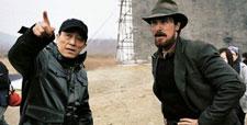 Zhang Yimou and Christian Bale on The Flowers of War set