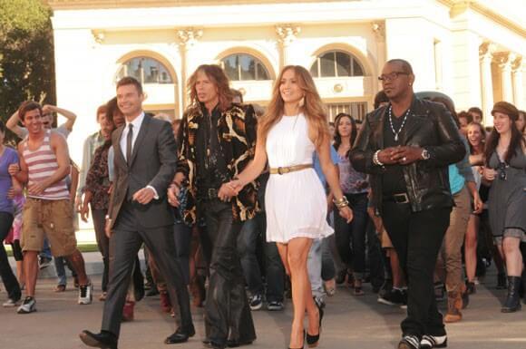 Ryan Seacrest, Steven Tyler, Jennifer Lopez and Randy Jackson