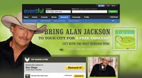 Alan Jackson contest display at www.Eventful.com/AlanJackson