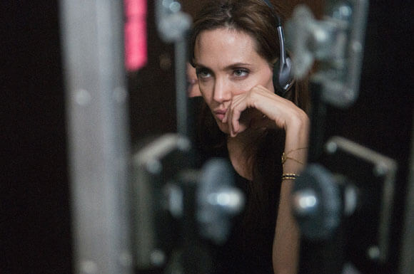 Angelina Jolie on the set of 'In the Land of Blood and Honey'