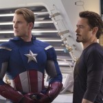Chris Evans and Robert Downey Jr in The Avengers