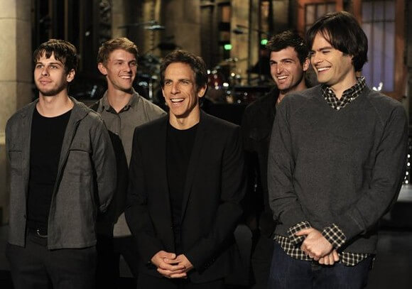 Foster the People, Ben Stiller, and Bill Hader on 'Saturday Night Live""