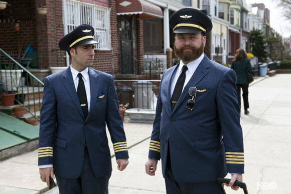 Jason Schwartzman and Zach Galifianakis in 'Bored to Death'