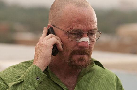 Bryan Cranston in a scene from the Breaking Bad season 4 finale