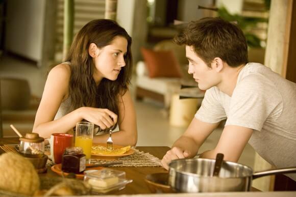 Kristen Stewart and Robert Pattinson in 'Breaking Dawn Part 1'