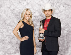 Carrie Underwood and Brad Paisley host The 45th Annual CMA Awards