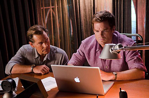 James Remar and Michael C Hall in Dexter