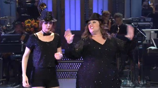 Kristen Wiig and Melissa McCarthy on SNL