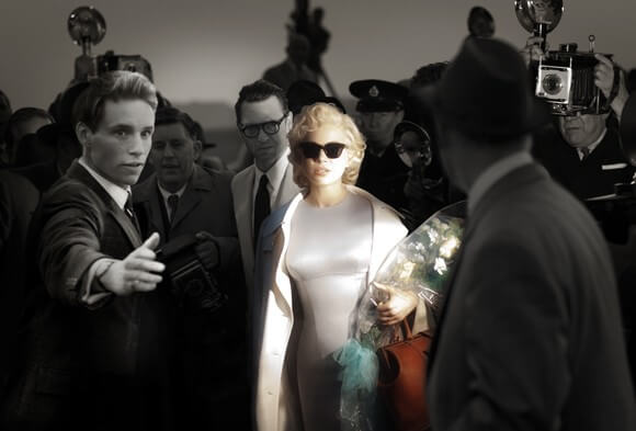 Eddie Redmayne, Dougray Scott, and Michelle Williams in My Week with Marilyn