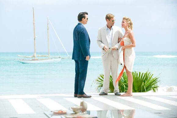 Johnny Depp, Aaron Eckhart and Amber Heard in The Rum Diary