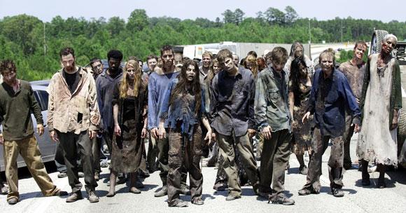 Zombies in a scene from The Walking Dead