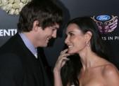 Ashton Kutcher and Demi Moore at the Valentine's Day premiere