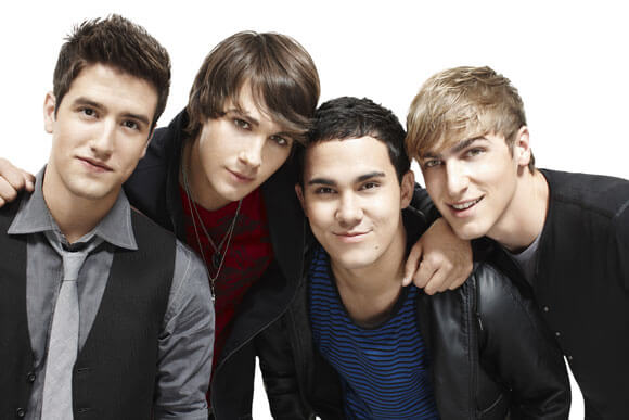 Logan Henderson, James Maslow, Carlos Pena and Kendall Schmidt in 'Big Time Rush' on Nickelodeon.