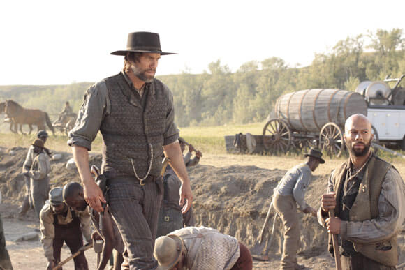 Cullen Bohannon (Anson Mount) and Elam Ferguson (Common) in Hell on Wheels