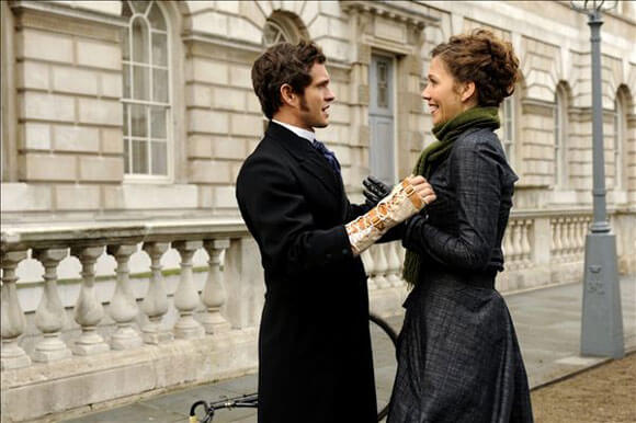 Hugh Dancy and Maggie Gyllenhaal in 'Hysteria'