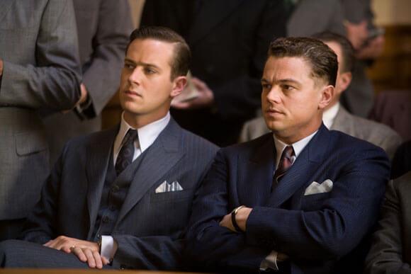 Armie Hammer and Leonardo DiCaprio in J Edgar