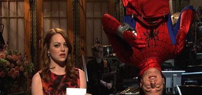Emma Stone and Andy Samberg on SNL