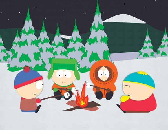 Stan, Kyle, Kenny and Cartman in 'South Park'