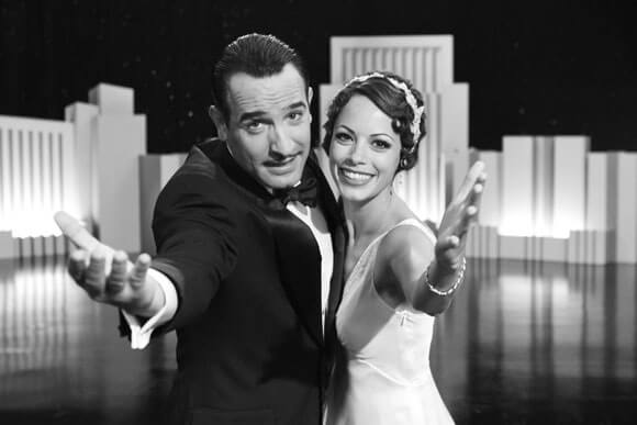 Jean Dujardin as George Valentin and Berenice Bejo as Peppy Miller in 'The Artist'
