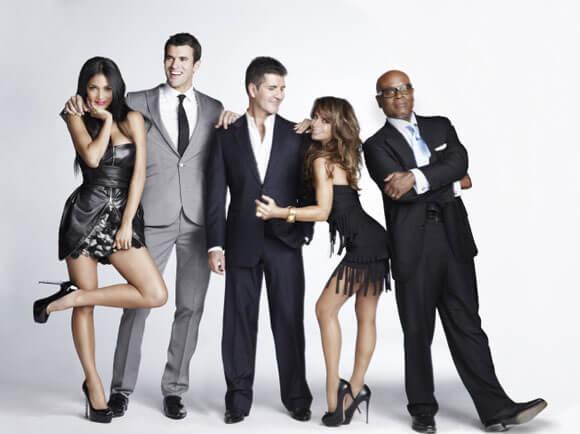 Nicole Scherzinger, Steve Jones, Simon Cowell, Paula Abdul and L.A. Reid