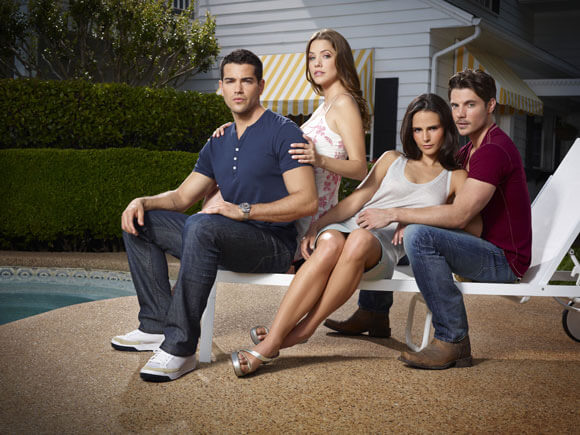 Jesse Metcalfe, Julie Gonzalo, Jordana Brewster and Josh Henderson in 'Dallas'