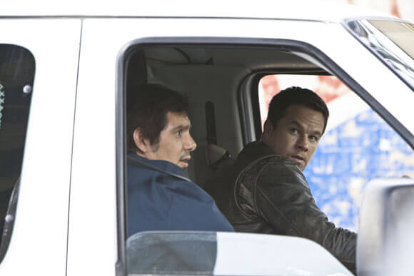Lukas Haas and Mark Wahlberg in Contraband