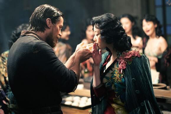 Christian Bale and Ni Ni in 'The Flowers of War'