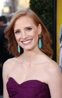 Jessica Chastain at The Help Premiere
