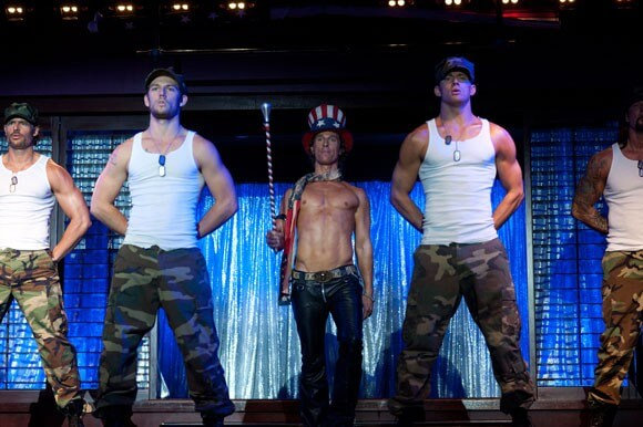 """ALEX PETTYFER as The Kid/Adam, MATTHEW McCONAUGHEY as Dallas, and CHANNING TATUM as Mike Martingano in Warner Bros. Pictures' dramatic comedy """"Magic Mike"""""""