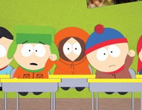 South Park's Kyle, Kenny, and Stan
