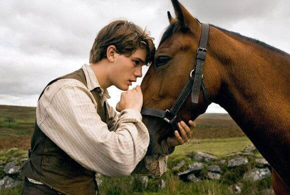 Jeremy Irvine in a scene from War Horse.