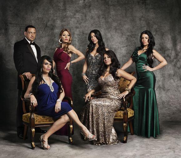 (L-R) Junior, Renee, Drita, Carla, Karen and Ramona from 'Mob Wives'