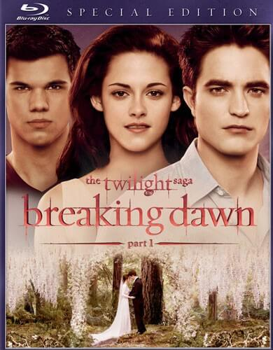 Breaking Dawn Part 1 Blu ray Cover
