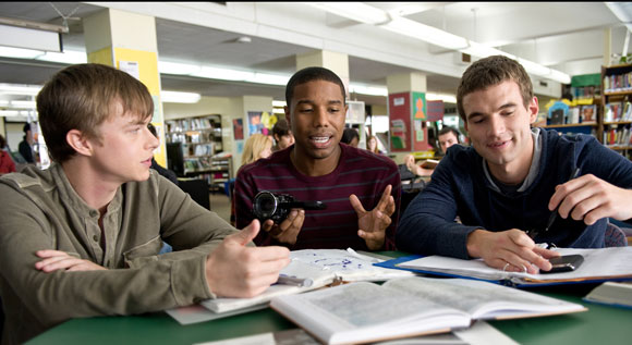 Dane DeHaan, Michael B Jordan and Alex Russell in a scene from 'Chronicle' - Photo © 20th Century Fox