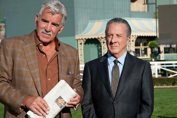 Dennis Farina and Dustin Hoffman in Luck