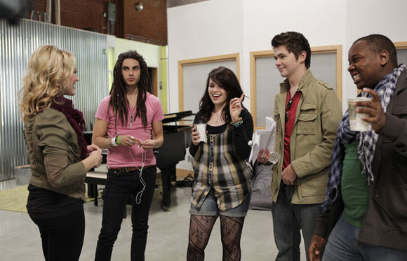 Nikki Anders, Samuel, Lindsay, Damian, and Alex on the August 21, 2011 episode of 'The Glee Project'