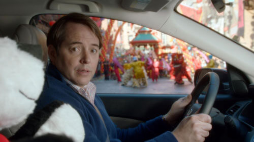 Award-winning actor Matthew Broderick is playing himself in a grown-up version of his celebrated role